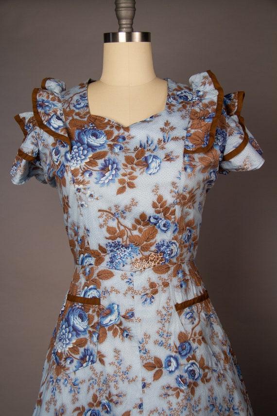 Vintage 1950s   Volup Vintage Dress   Floral Summ… - image 3