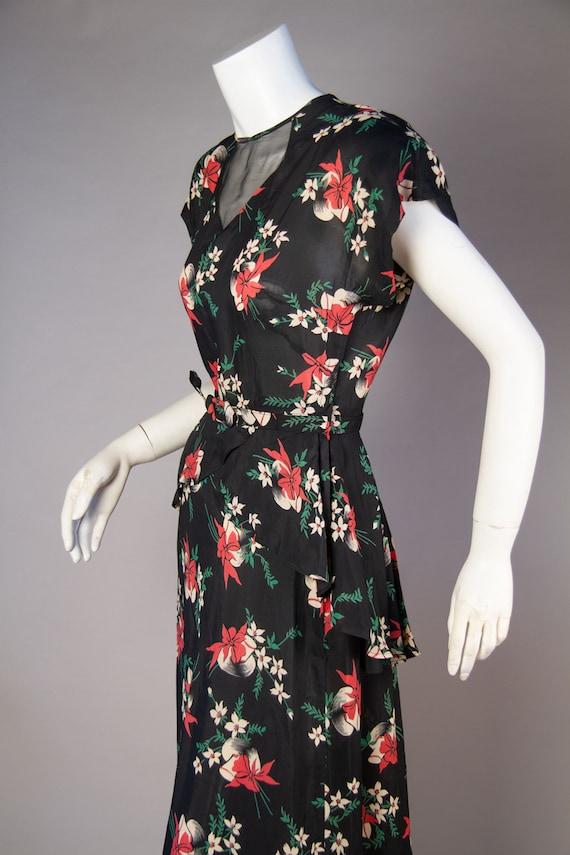 Vintage 1940s | Vintage Dress | 1940s Novelty Hat… - image 6