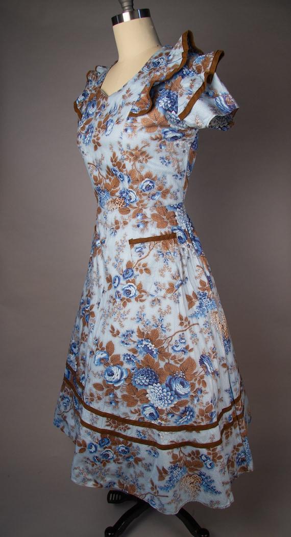 Vintage 1950s   Volup Vintage Dress   Floral Summ… - image 5