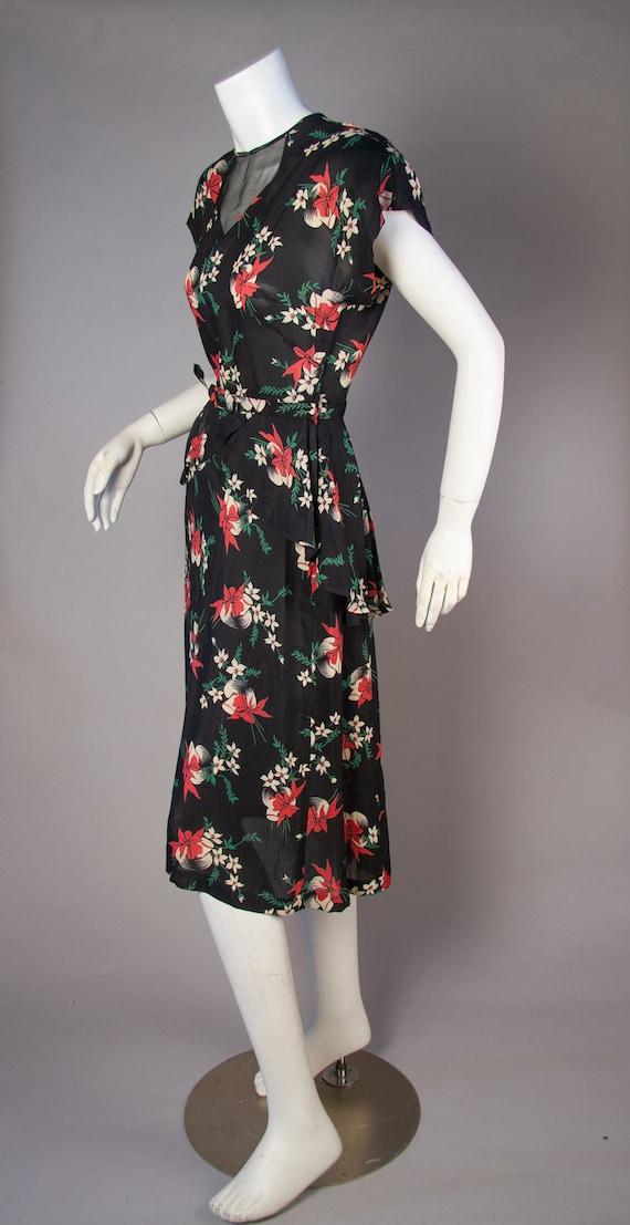 Vintage 1940s | Vintage Dress | 1940s Novelty Hat… - image 5