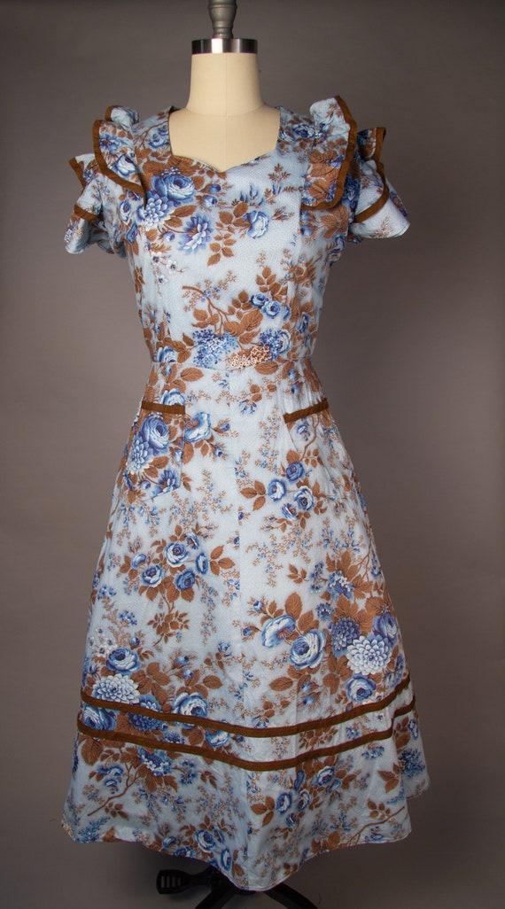 Vintage 1950s   Volup Vintage Dress   Floral Summ… - image 2
