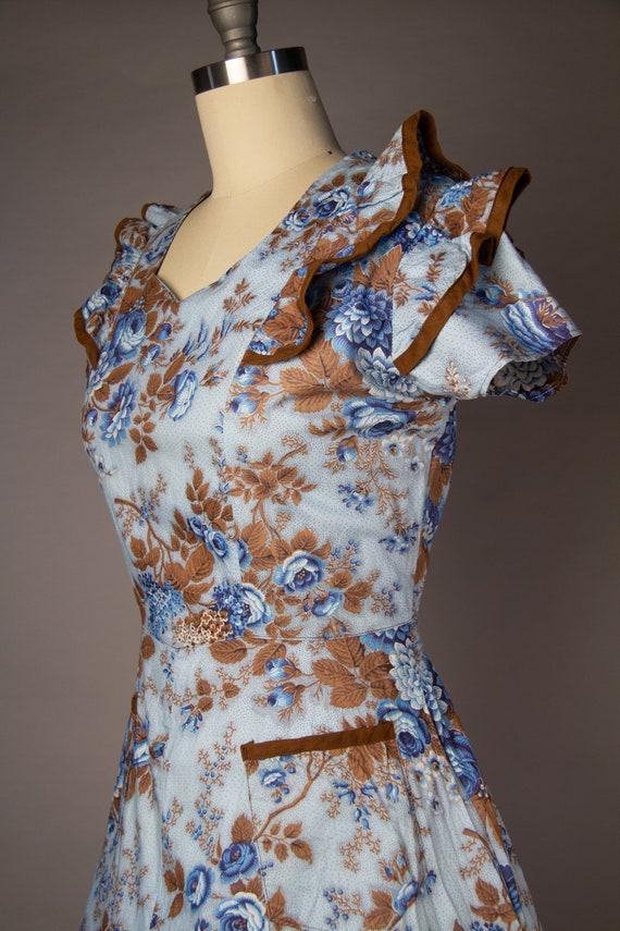 Vintage 1950s   Volup Vintage Dress   Floral Summ… - image 6