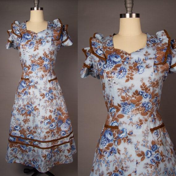 Vintage 1950s   Volup Vintage Dress   Floral Summ… - image 1