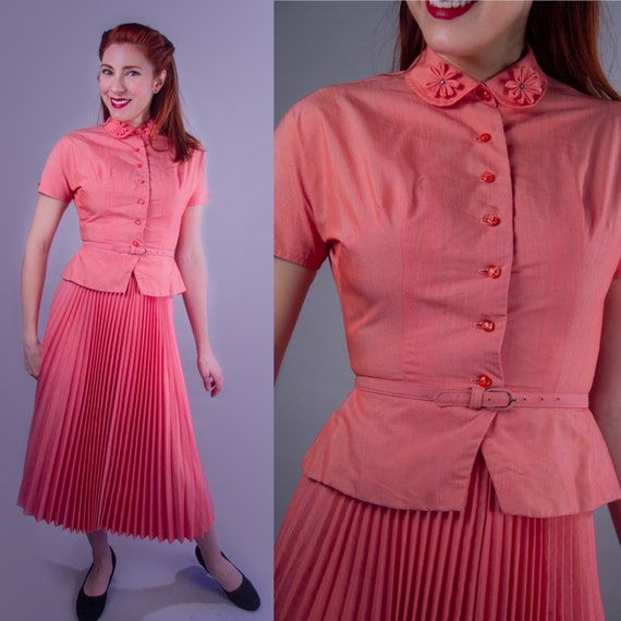 1940's Coral Summer Suit