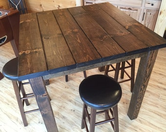 """36"""" Square Rustic Reclaimed Wood/Bar Table, Bar Height Table, High Top Table"""