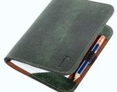 Golf Scorecard holder Personalized Handmade Leather Golf Scorecard Holder Minimalist Olive Green