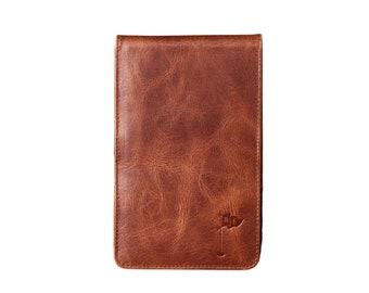 Golf Scorecard Holder, Golf Gift for Man, Yardage Book Holder, Gift for Dad, Gifts for Golfers, Personalized Whiskey