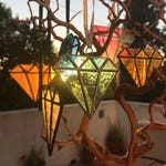 Faceted gem stained glass suncatchers/ornaments