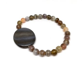 Gemstone Bracelet/ Mother of Pearl Bracelet