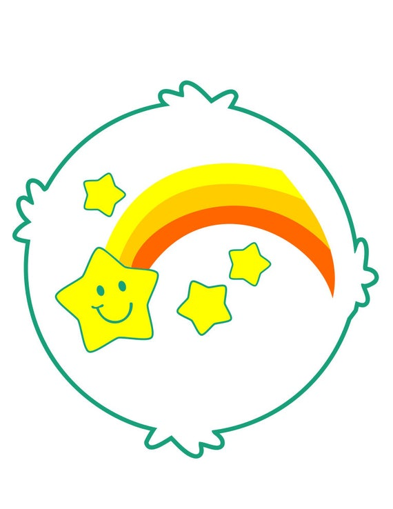 Adaptable image in care bear belly badges printable