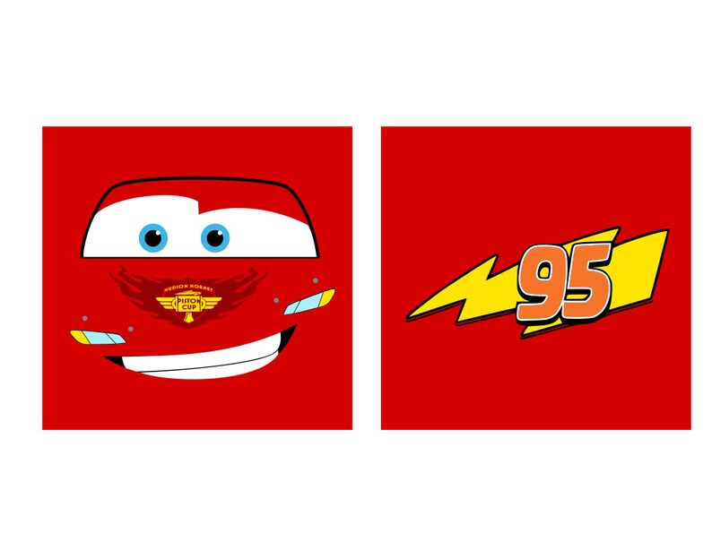 Cars Faces Lightning Mcqueen Mater Svg Pdf Png And Dxf Etsy