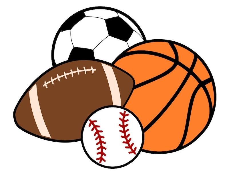 Sports Balls  Basketball Soccer Football Baseball  svg image 0