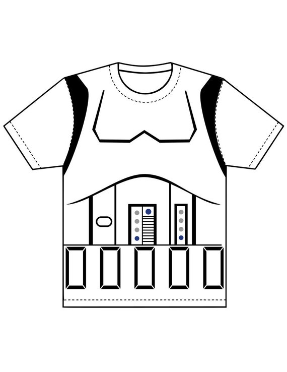 Storm Trooper Costume Shirt Svg Pdf Png And Dxf Files