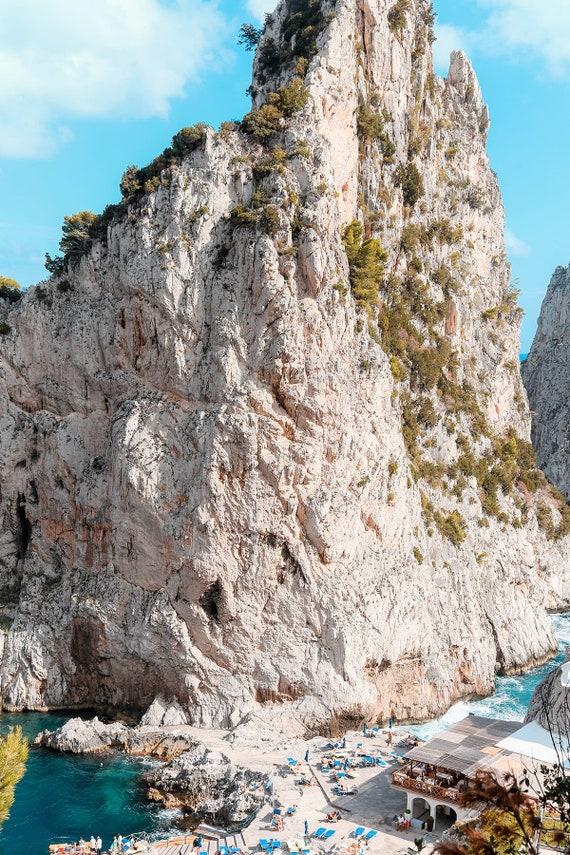 Capri Photography Beach Art CAPRI LANDSCAPE Italian Coast Prints Amalfi Coast Landscape Da Luigi