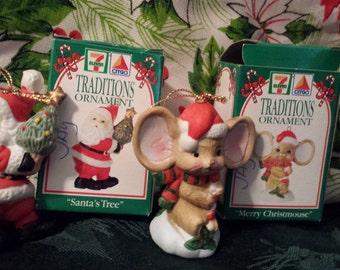 set of two 1993 citgo 711 christmas ornaments - 7 11 Christmas Hours