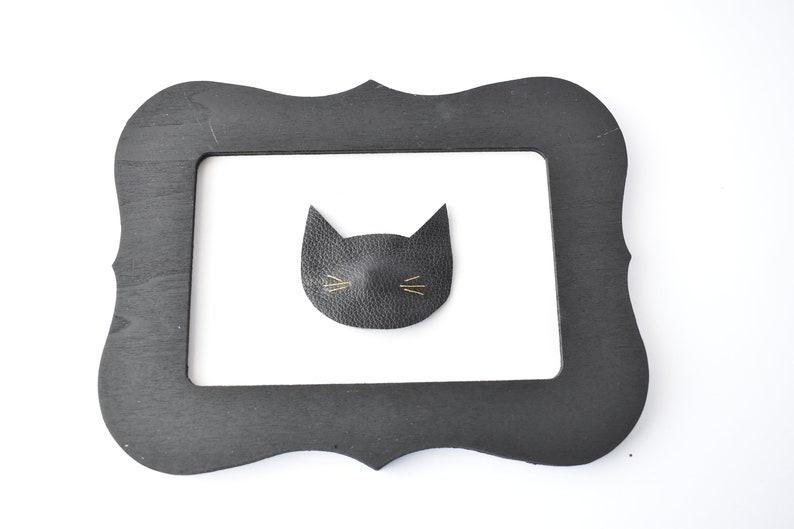 leather cat hair clip Halloween cat snap clip Cat bow hair clip bow black cat snap clip cat snap clip,Halloween cat hair clip