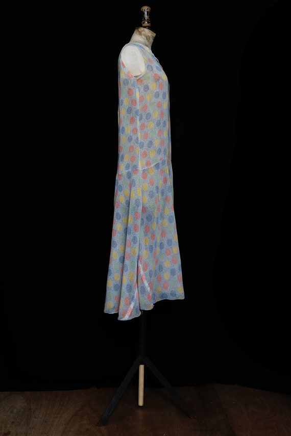 Late 1920s Printed Cotton Day Dress - image 3