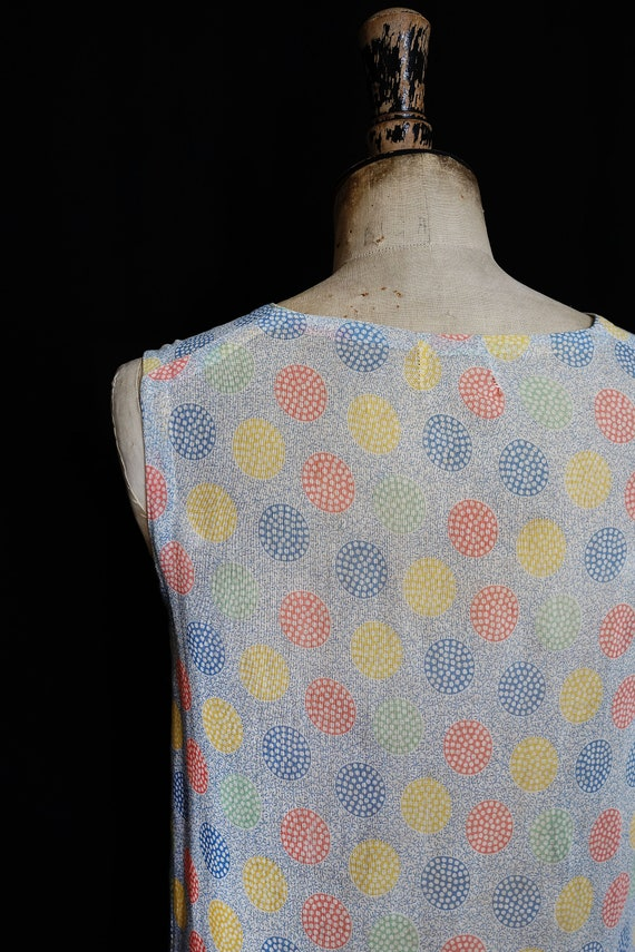 Late 1920s Printed Cotton Day Dress - image 7