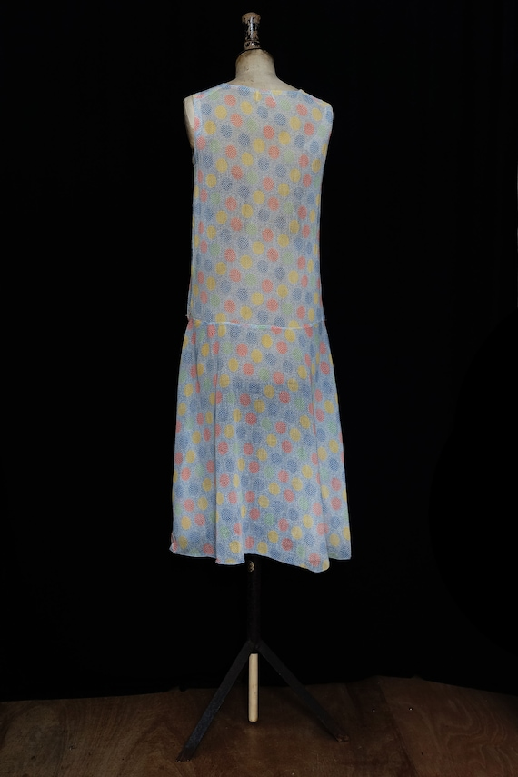 Late 1920s Printed Cotton Day Dress - image 5
