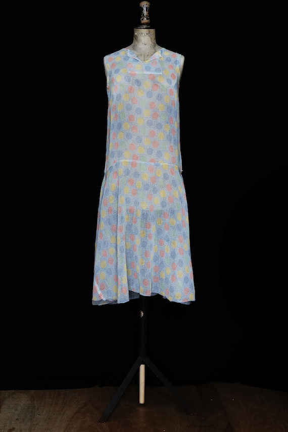 Late 1920s Printed Cotton Day Dress - image 2