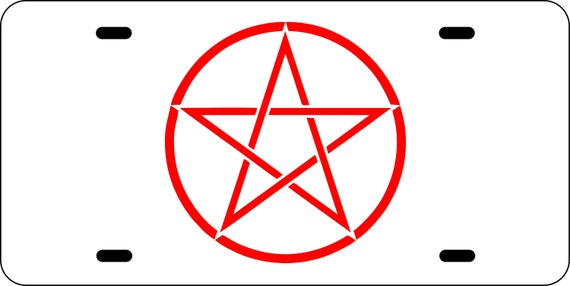 Pentagram Wicca Witch License Plate Tag Frame