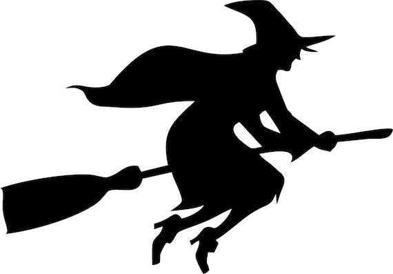 Hexe Auf Besen