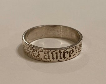 French You and No Other Ring Flower STERLING SILVER Gift Vous et nul autre