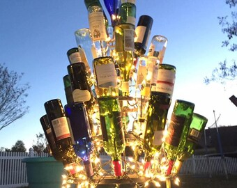 Wine Bottle Tree (4) four foot