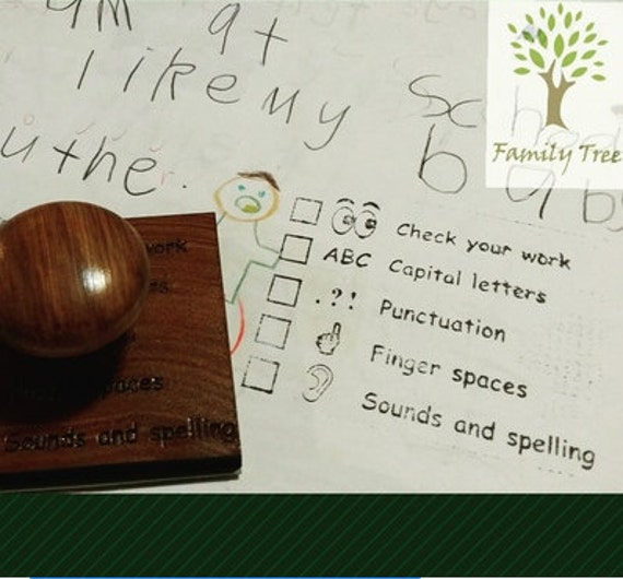 Rubber stamp teachers early years writing feedback etsy image 0 expocarfo Image collections
