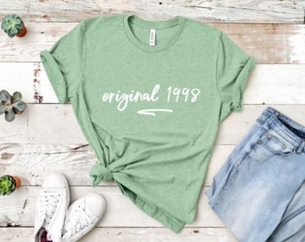 21st Birthday Shirt For Her Girl Gift Best Friend 1998