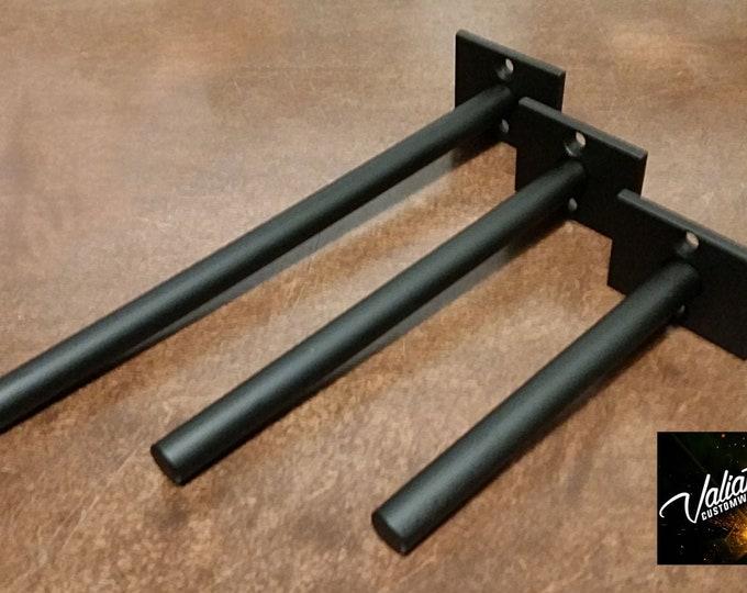 """Standard Duty Floating Shelf Bracket (Single Piece) - 1/2"""" post"""
