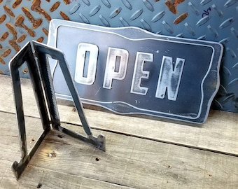 Open / Closed Window Shelf Sign with stand