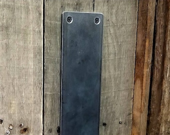 "Medium 3"" Flat Steel Push Plate - Loft Door, Industrial Door 10"" - 26"""