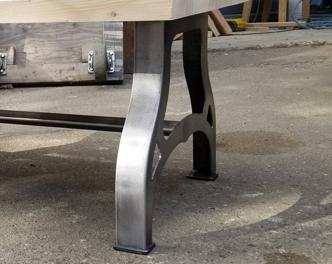 Featured listing image: 1930s industrial-inspired Legs - Coffee Table or Bench