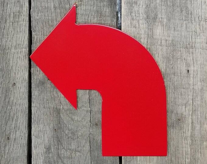 Medium steel corner arrow sign - 14ga steel
