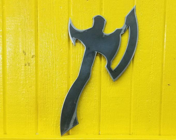 Cosplay Costume Prop Blank - Orkish Hand Axe in 10ga steel