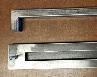 """BARN DOOR SET - 1"""" Steel Handle and Matching 3"""" Recessed Door Pull"""