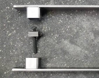 "1"" Low Profile handle set - hidden hardware 6"" - 24"""