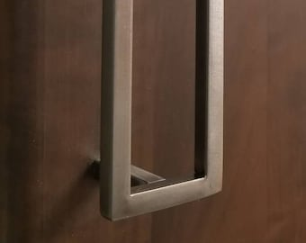 "3/8"" Square Contemporary Steel Cabinet door/drawer pull - 5"" - 20"""