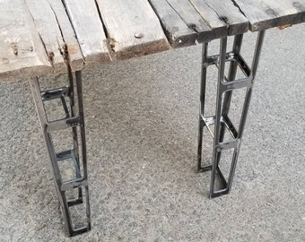 Aircraft style truss bench legs - plasma cut 10ga steel