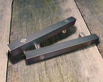"Lg. Contemporary Steel Cabinet door/drawer pull - 6"" - 14"""