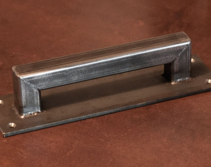 "Barn Door Handle - 1"" square structural series, low profile - Loft Door, Industrial Door 10"" - 26"""