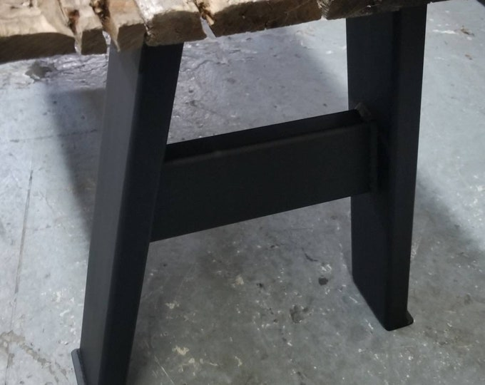 """Industrial-inspired Legs - Bench or Low Table - 16"""" tall, 12"""" wide, 3"""" x 1"""" legs"""