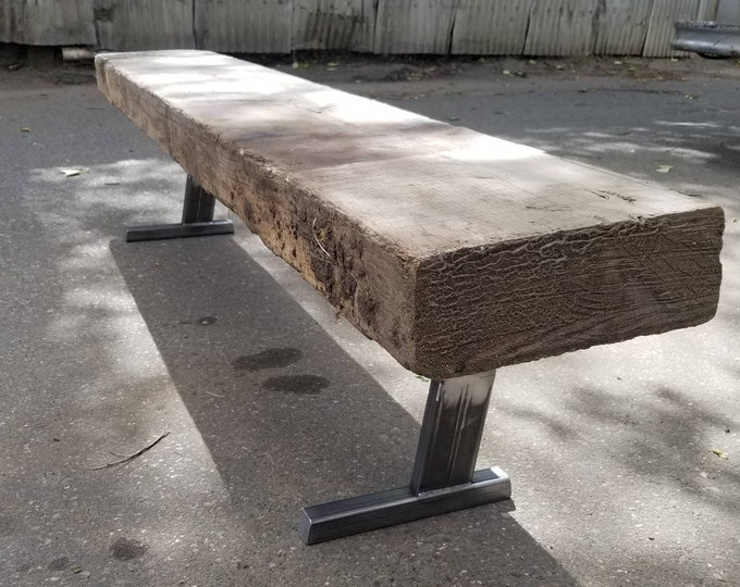 "NEW PRODUCT! Industrial 10 Degree Legs - Bench or Low Table - 3"" x 1"" hot-rolled steel"