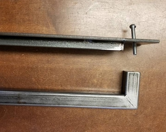 "BARN DOOR SET - 1"" Steel Handle and Matching 3"" Recessed Door Pull"