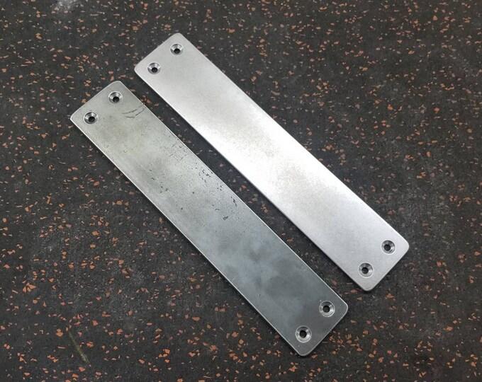 """Small 2"""" Flat Steel Push Plate - Loft Door, Industrial Door 8"""" - 26"""""""
