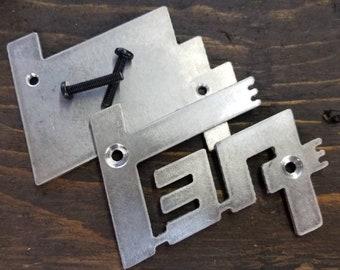 Universal Grille-Mount TEQ Logo in Aluminum