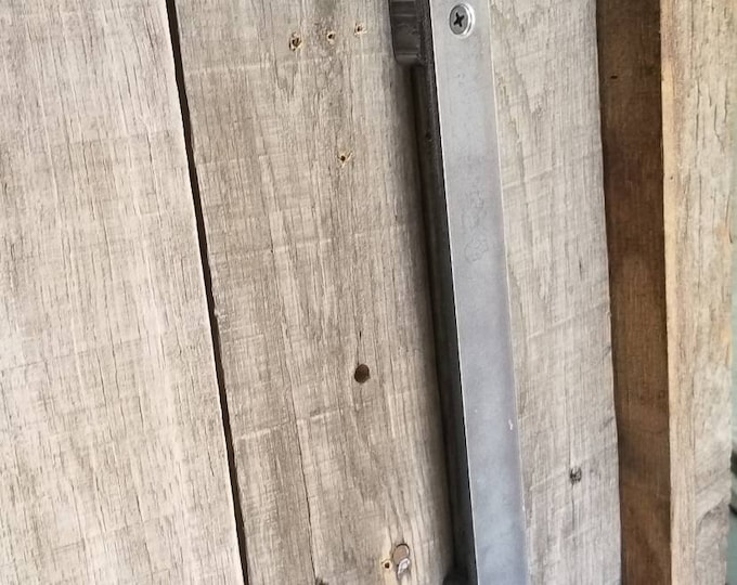 "Industrial 1"" Extra-low profile barn / sliding door handle - 3/4"" total projection"