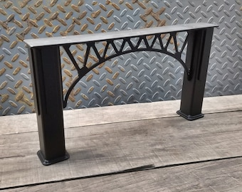 """Bridge Truss Legs - 1-1/2"""" Square tube Legs, for benches and low tables - 1 pair - 6-20"""""""