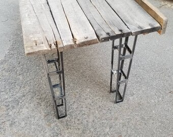 Aircraft style truss bench legs - plasma cut 11ga steel